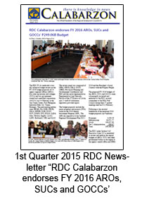 1st Quarter 2015 RDC Newsletter