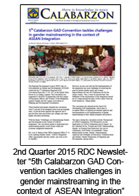 2nd Quarter 2015 RDC Newsletter