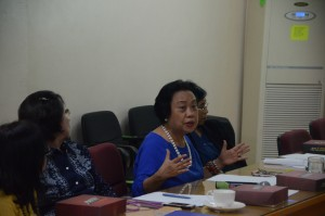 Director Marilou Q. Toledo, Department of Trade and Industry IVA, discussing industry roadmaps in Calabarzon
