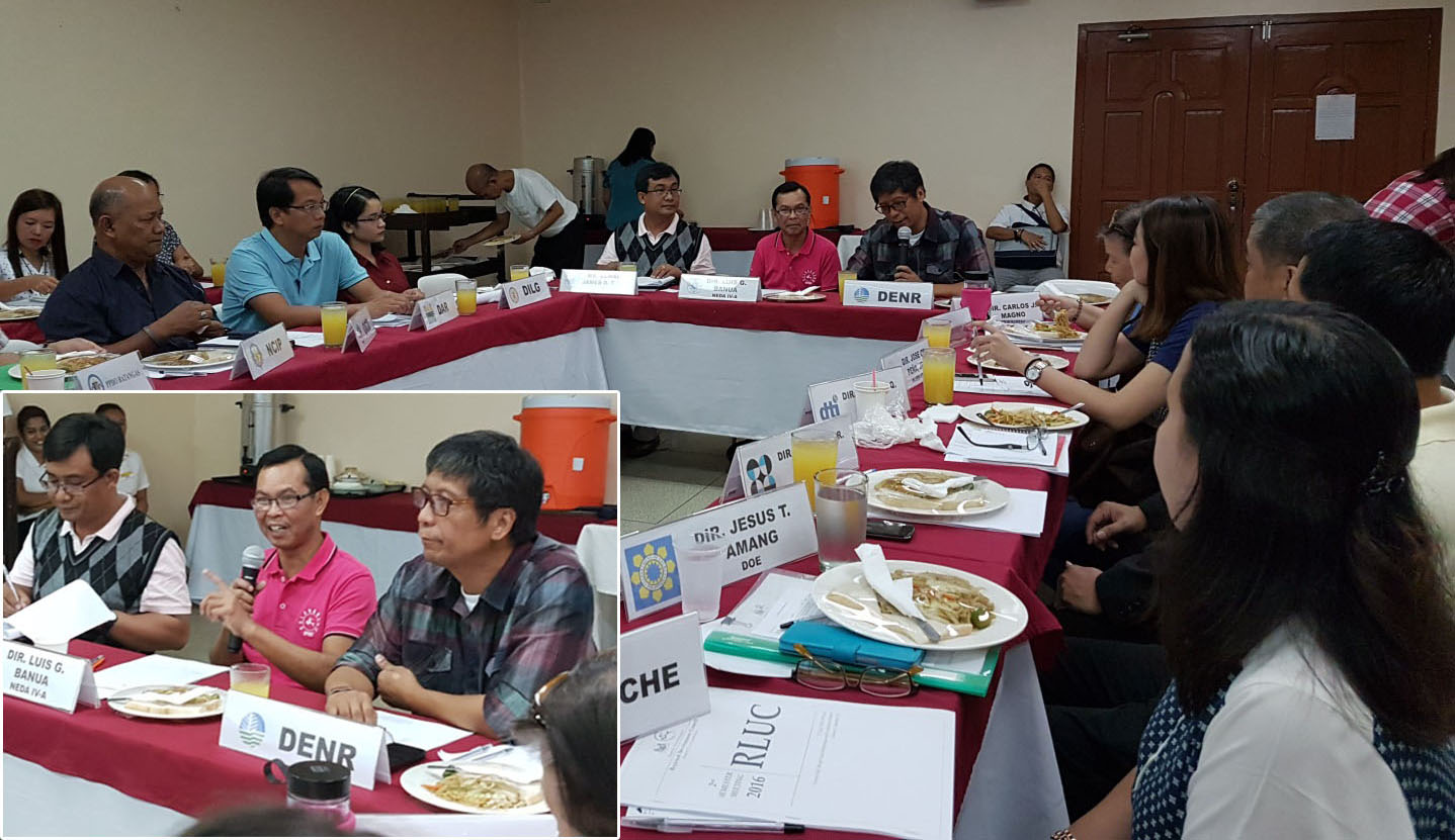 Calabarzon Land Use Committee tackles Protected Area Management and   Local Resource Issues
